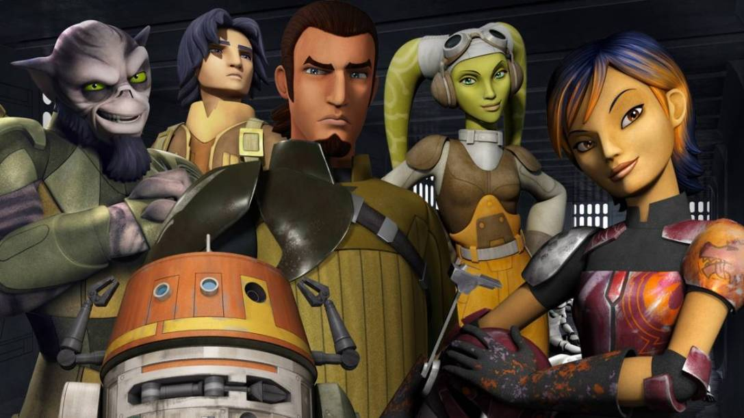 The crew of the Ghost in Star Wars Rebels