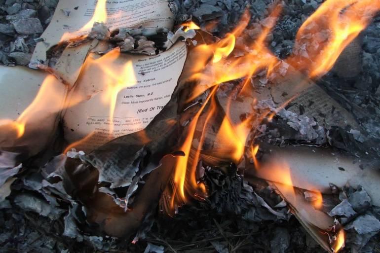 Books Being Burned