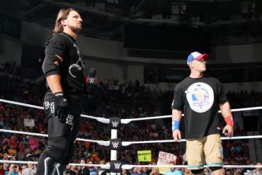 AJ Styles and John Cena