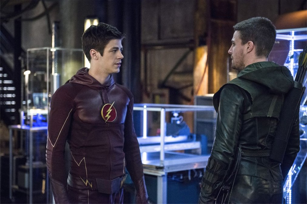 Barry Allen and Oliver Queen