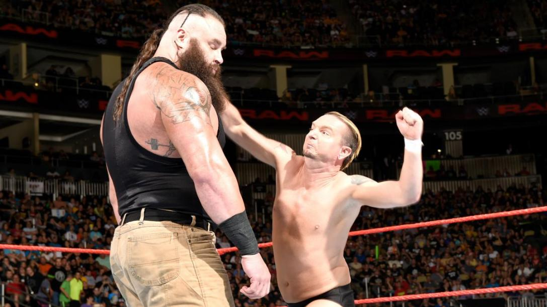 James Ellsworth and Braun Strowman