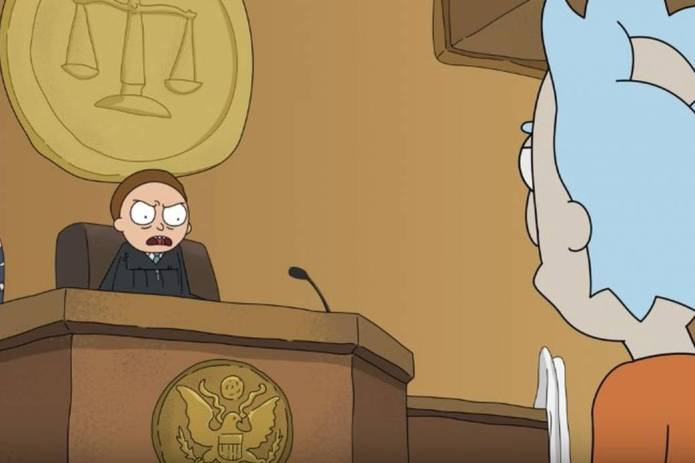 Rick and Morty in Court