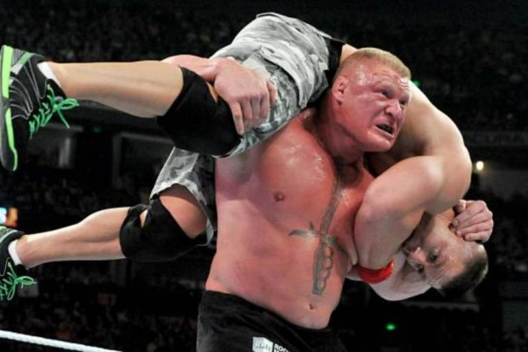 Brock Lesnar and John Cena
