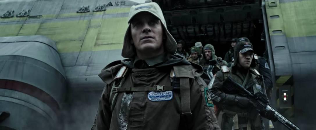 Fassbender in Alien: Covenant trailer screenshot