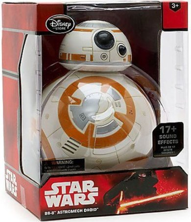 Star Wars gift idea: BB8 interactive figure in box