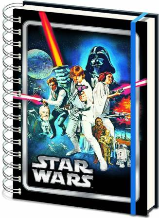 Star Wars gift idea: New Hope poster image on notebook