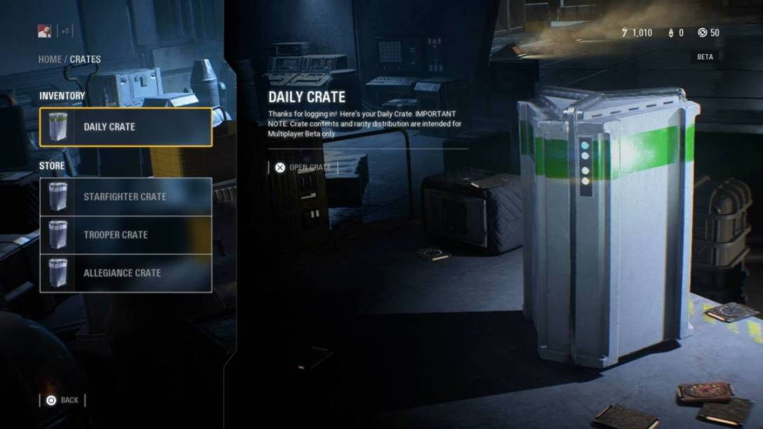 Battlefront 2 loot crates