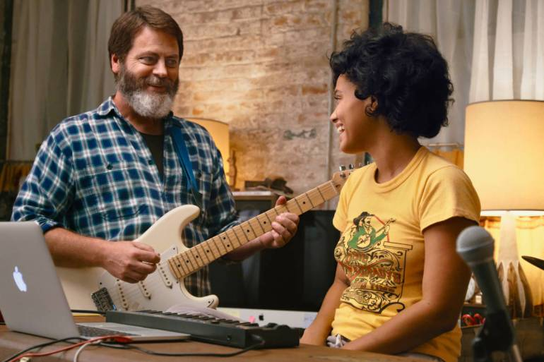Nick Offerman and Kiersey Clemons appear in Hearts Beat Loud by Brett Haley, an official selection of the Premieres program at the 2018 Sundance Film Festival.