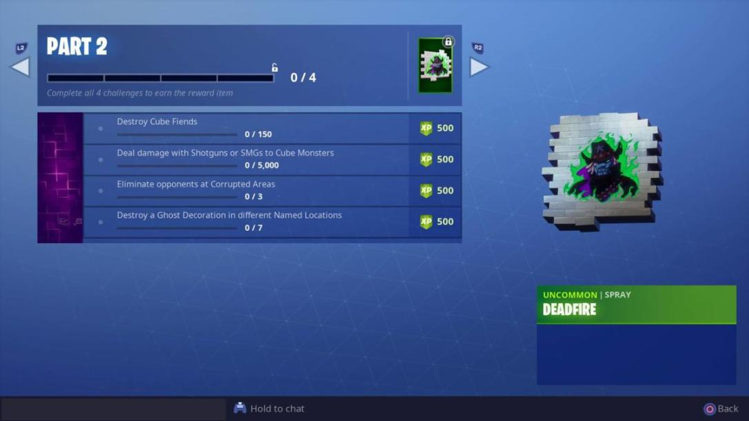 Fortnitemares Part 2 challenges