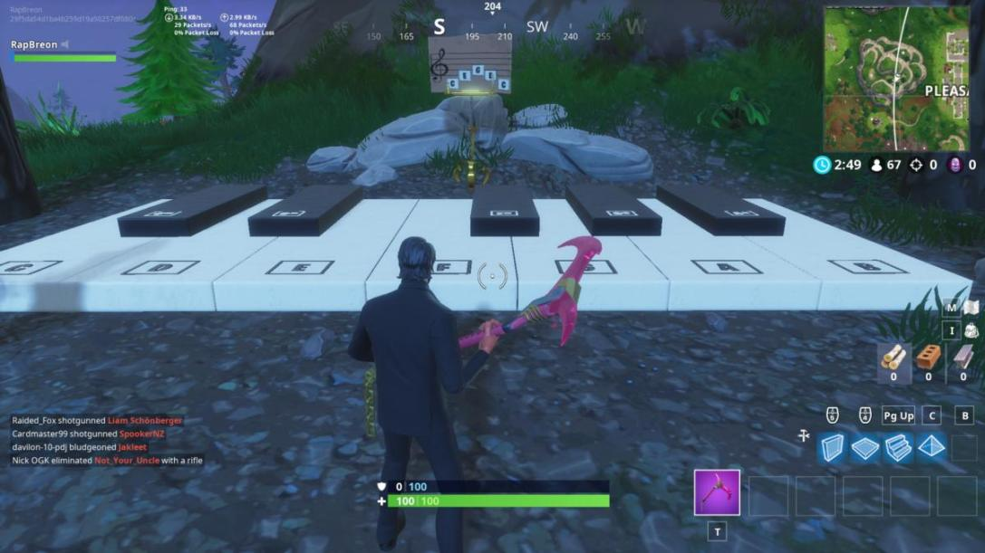 Fortnite sheet music