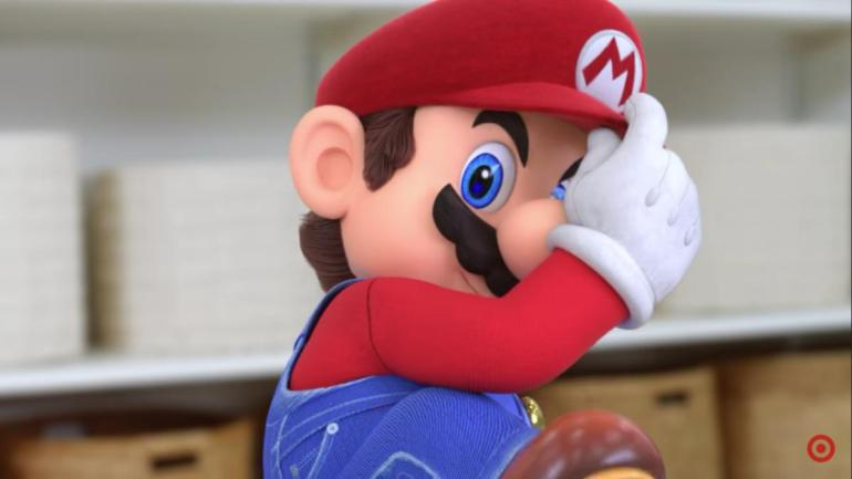 Mario tipping his signature red hat