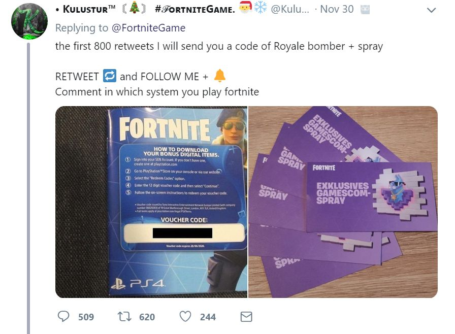 Fortnite spam 2