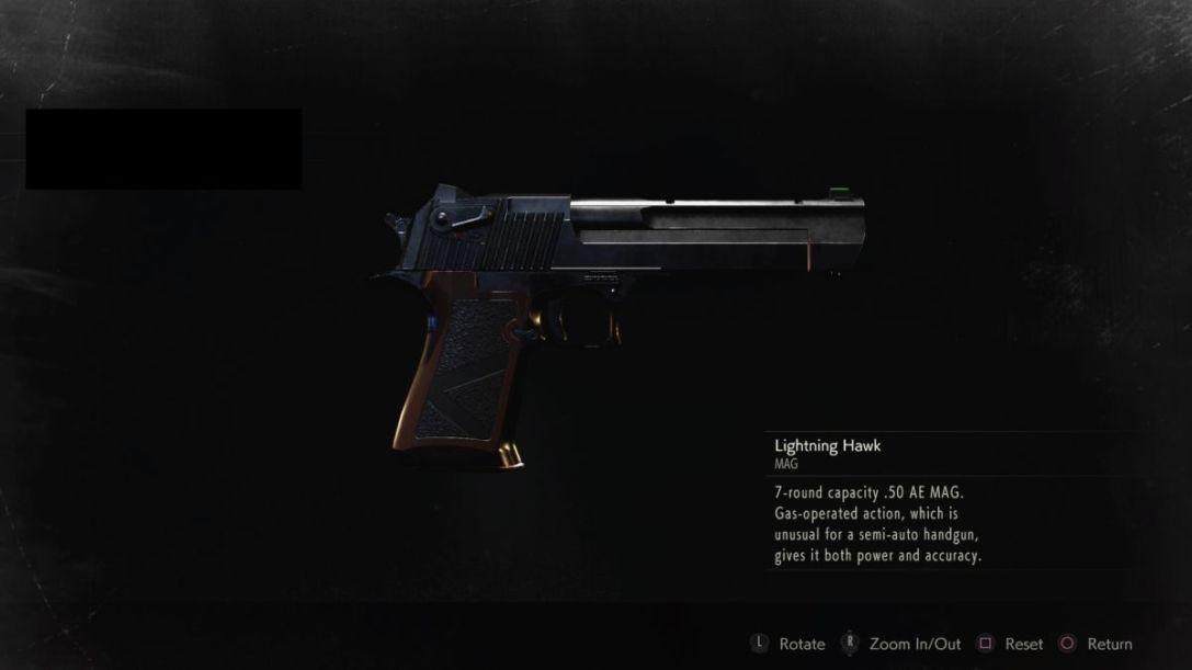 Resident Evil 2 Lightning Hawk Magnum
