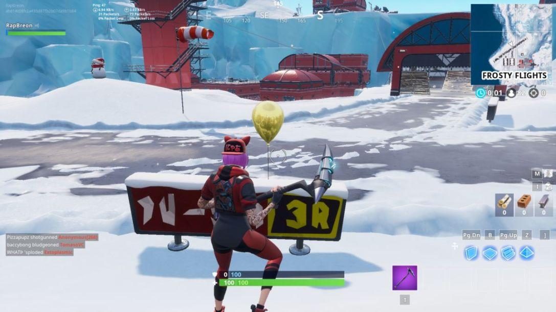 Fortnite Golden Balloons Locations