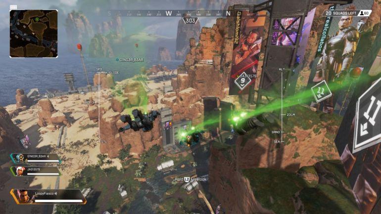 Apex Legends landings