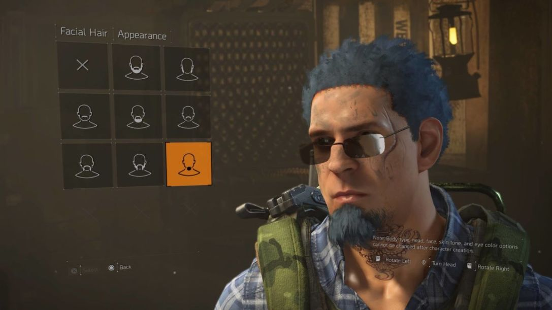 The Division 2 character creator