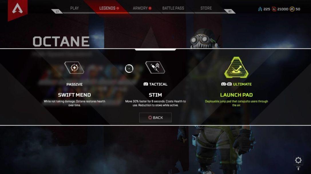 Apex Legends Octane Abilities