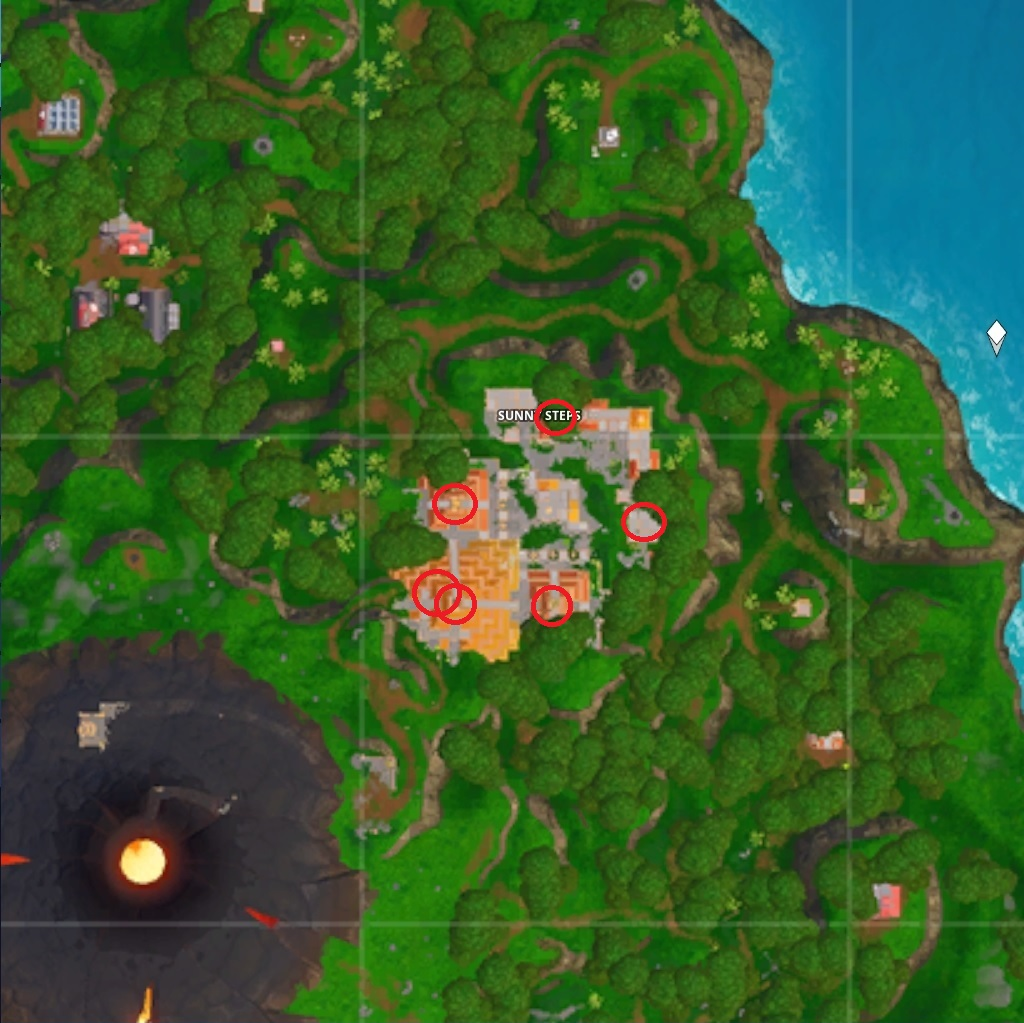 Fornite Sunny Steps chest locations