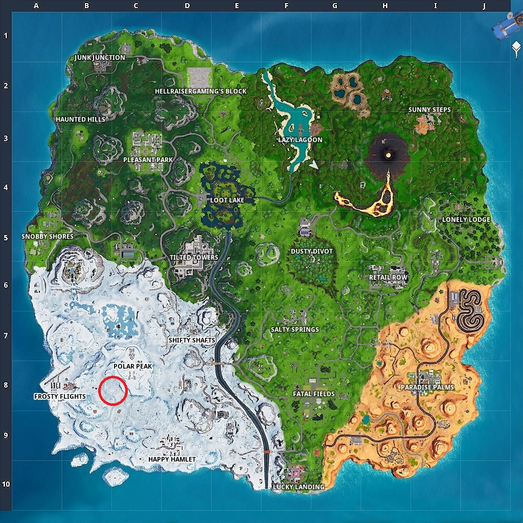 Magnifying Glass Treasure Location On The Map