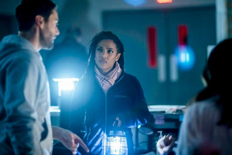 "NEW AMSTERDAM -- ""Sanctuary"" Episode 117 -- Pictured: Freema Agyeman as Dr. Helen Sharpe -- (Photo by: Zach Dilgard/NBC)"
