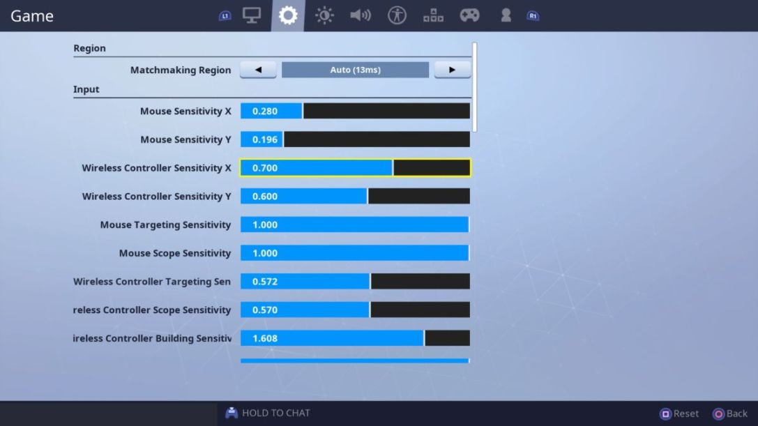 Fortnite Sensitivity Settings