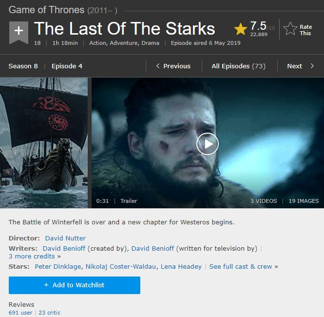The Last of the Starks 1