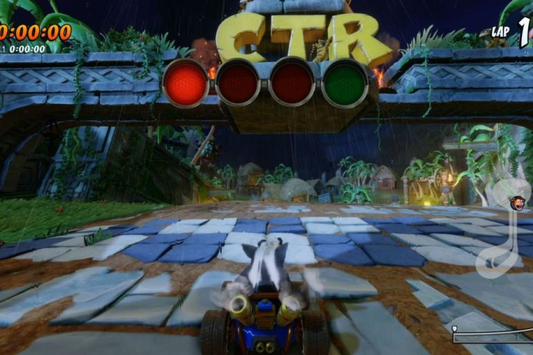 CTR Nitro Fueled - Tiger Temple Shortcut