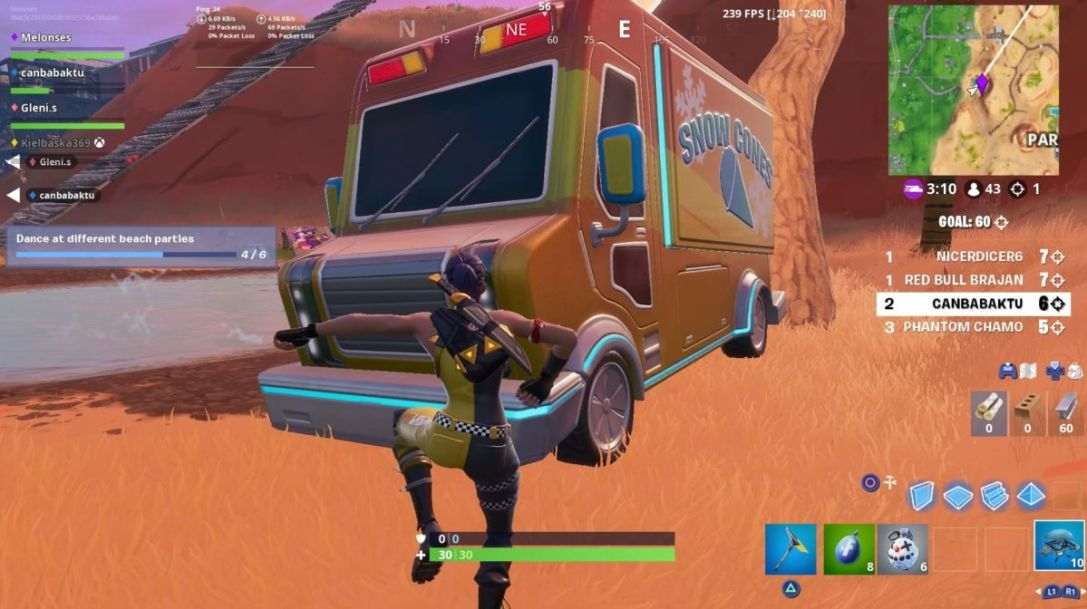 Fortnite 14 Days of Summer: Dance At Different Beach ...
