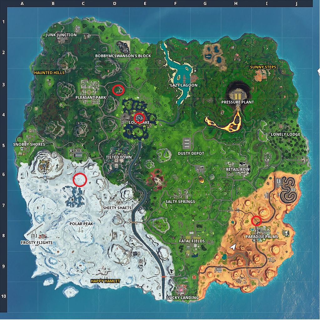 Fortnite SeasoN X rift spawn map