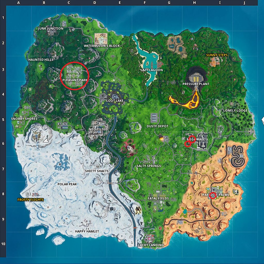 Fortnite Stop Signs map