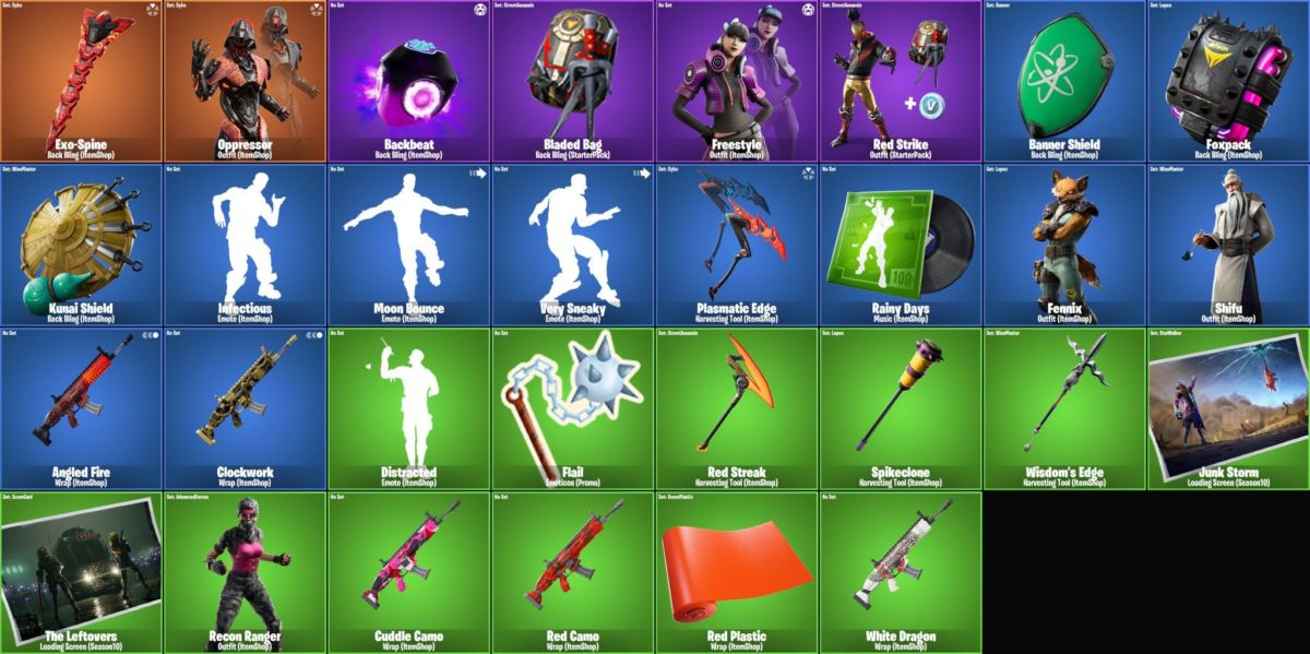 Fortnite v10 10 Leaked Skins: Freestyle, Red Strike