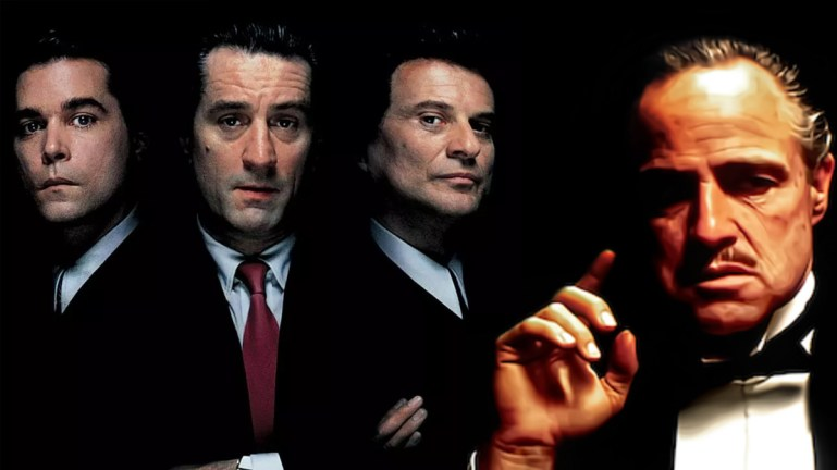 the godfather goodfellas marlon brando ray liotta robert de niro joe pesci