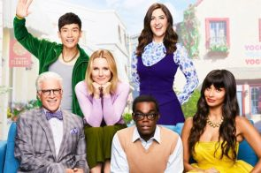 the good place Kristen Bell, Ted Danson, William Jackson Harper jameela jamil d'arcy carden