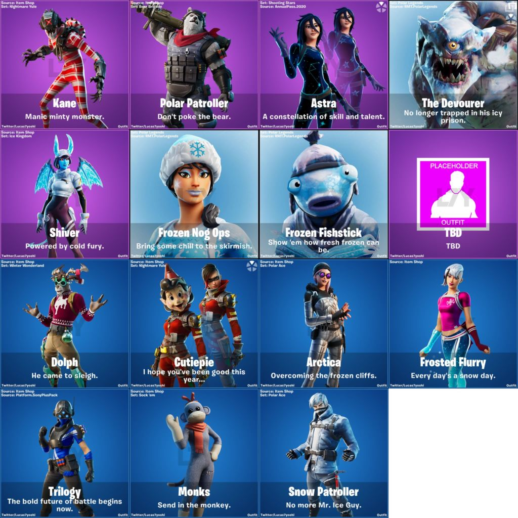 Fortnite V11 30 Leaked Skins Codename Elf Cutiepie Cattus More Updated Welcome to our fortnite item store listing. fortnite v11 30 leaked skins codename
