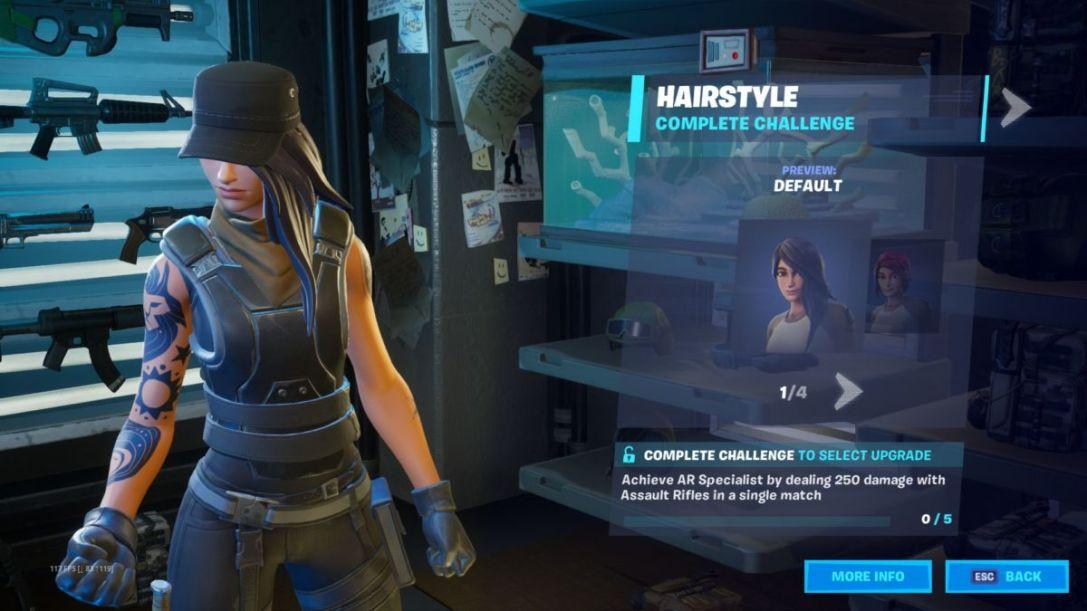 Fortnite Maya challenges hair