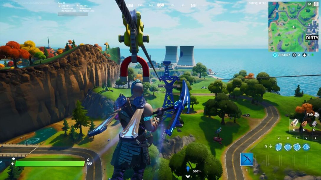 Fortnite Ride A Zipline From Retail To Steamy