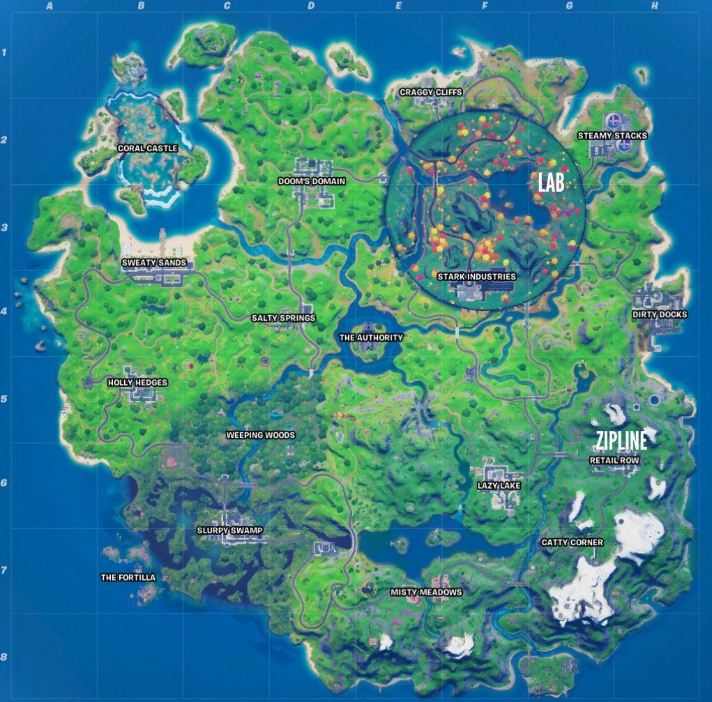 Fortnite Stark Hidden Lab map
