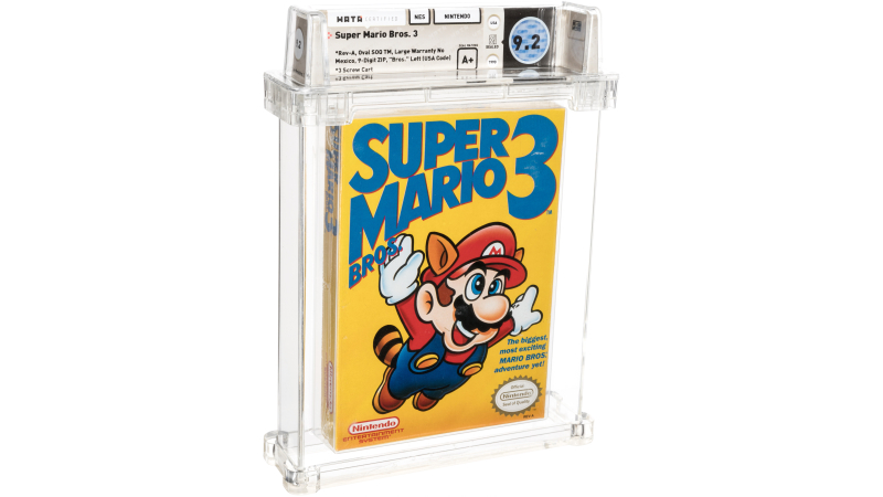 A Rare Version Of Super Mario Bros. 3 Sold For Nearly $160k