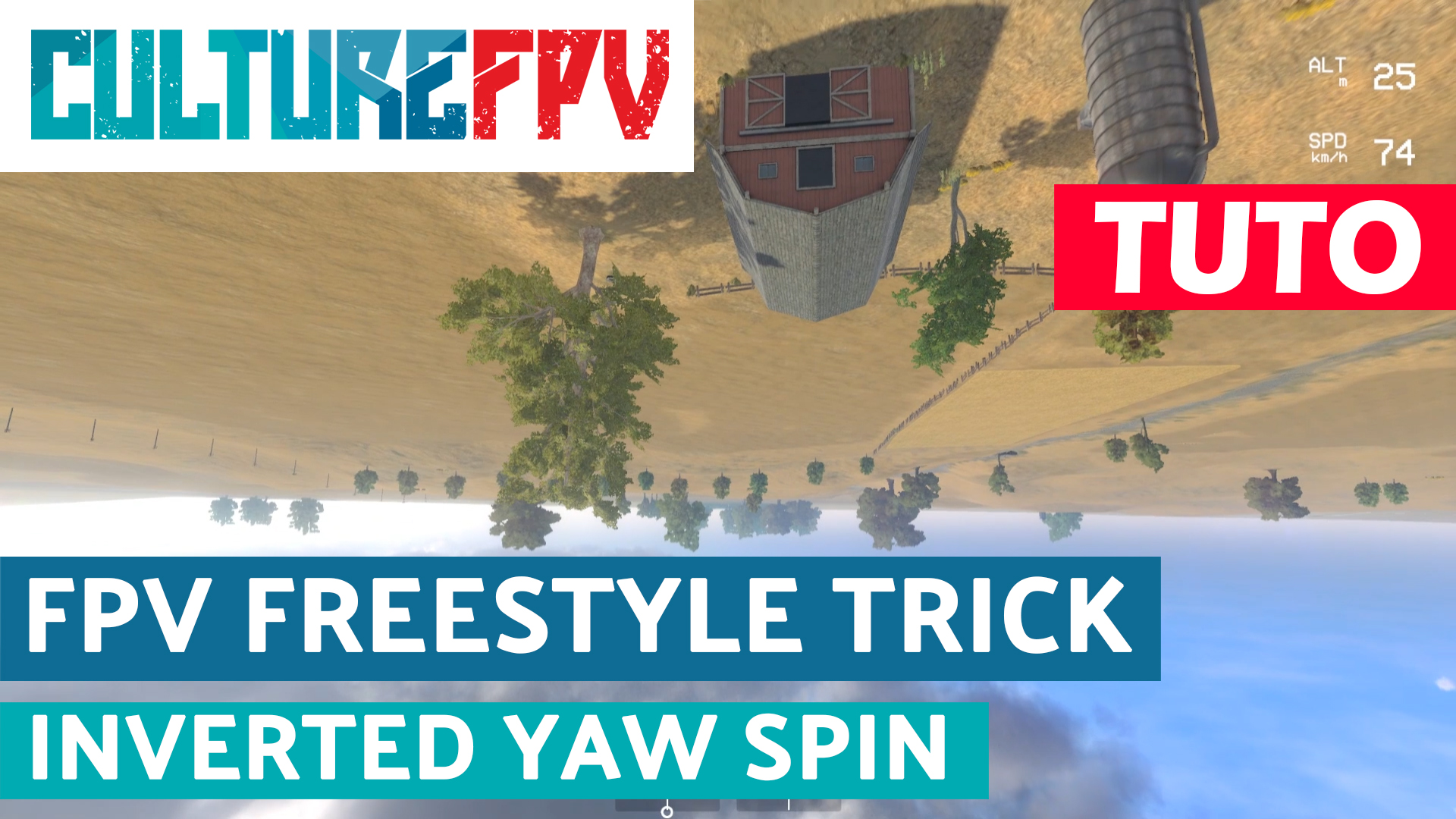 Tuto tricks inverted yaw spin