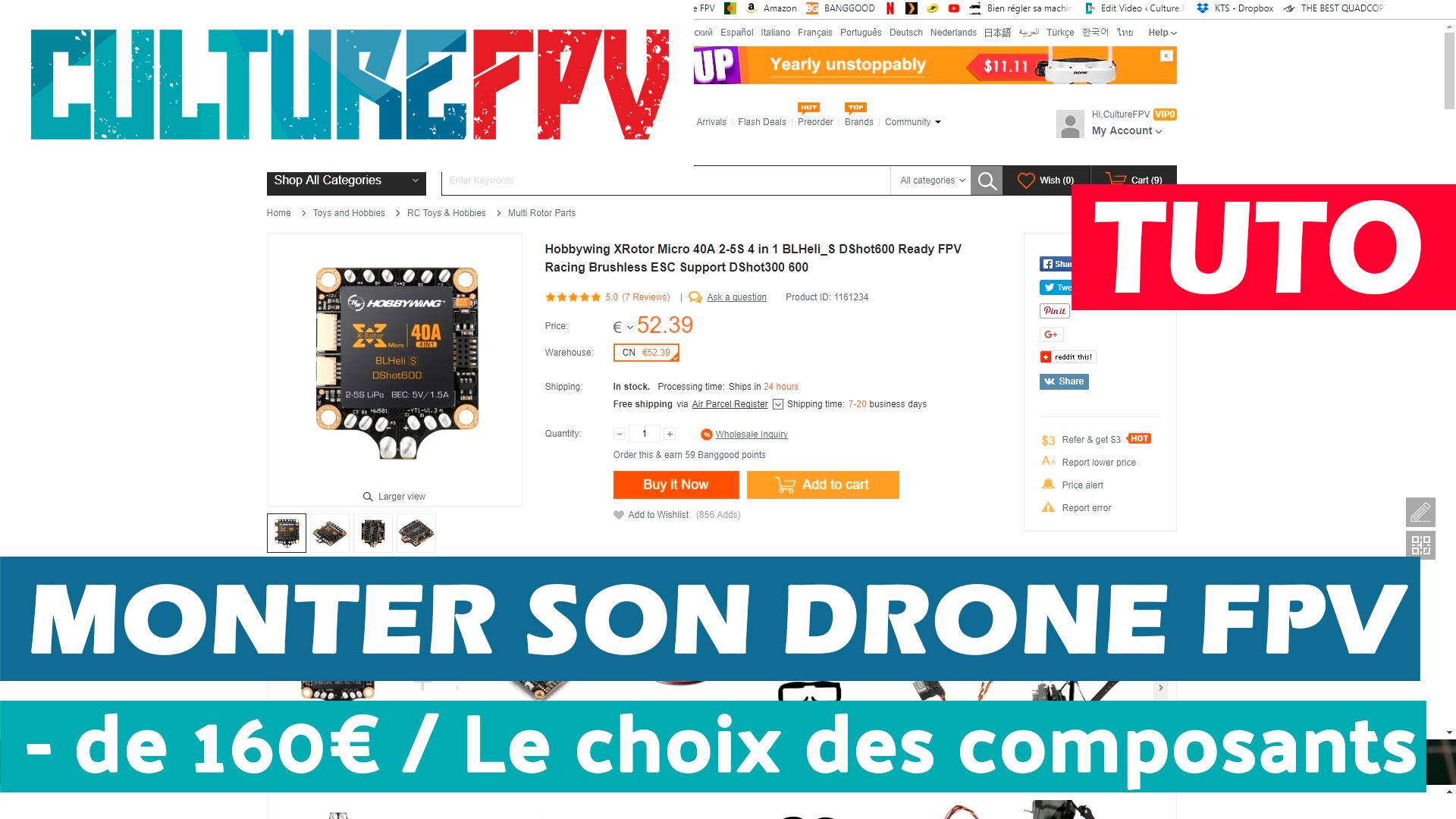 Monter son drone racer FPV
