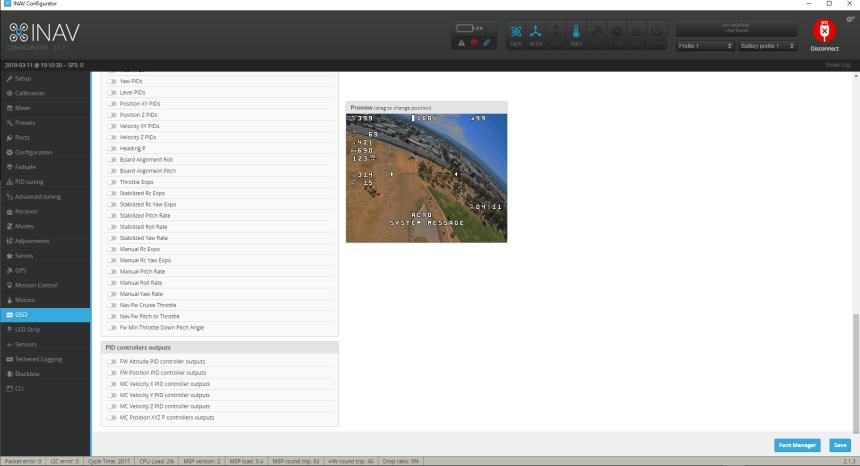 INAV Configurateur Configurator OSD