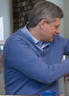 Harper in fuzzy blue sweater