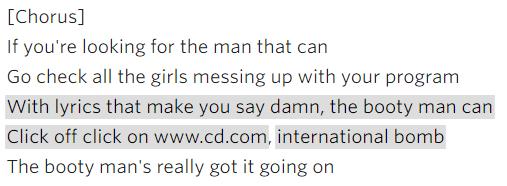 Craig David - Booty Man lyrics
