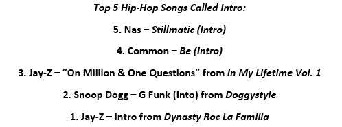 Hip Hop Intros