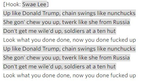 Rae Sremmurd - Up Like Trump lyrics