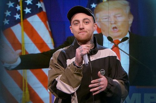 mac miller donald trump - nightly show