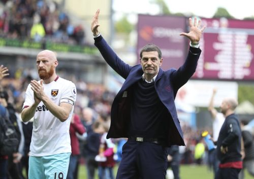 slaven bilic and james collins - West Ham United