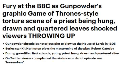 Daily Mail - Gunpowder headline
