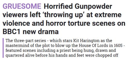 The Sun - Gunpowder headline