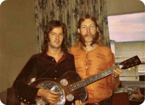 Eric Clapton and Duane Allman